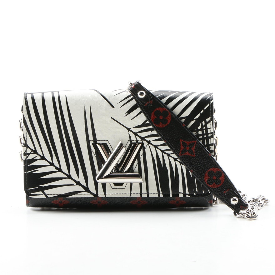 Louis Vuitton Twist Chain Wallet in Palm Print Leather and Monogram Infrarouge