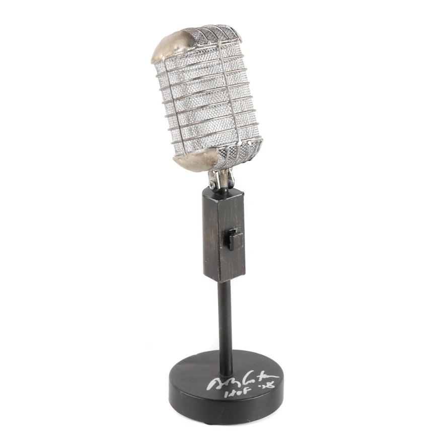 Bob Costas Signed Replica Microphone  COA