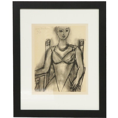 "Lithograph After Henri Matisse ""Mademoiselle M.A."", Late 20th Century"