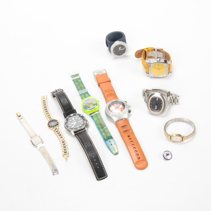 Swatch, Seiko, Citizen and Other Assorted Wristwatches
