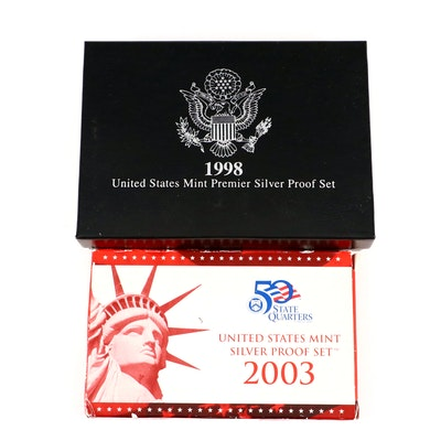 Two U.S. Mint Silver Proof Sets