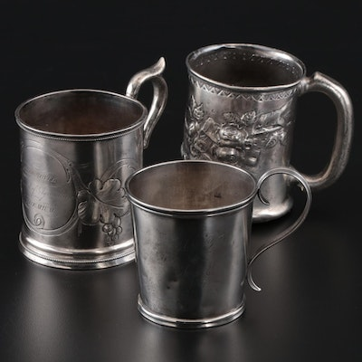 Sterling Silver and Coin Silver Presentation Cups, Mid to Late 19th Century
