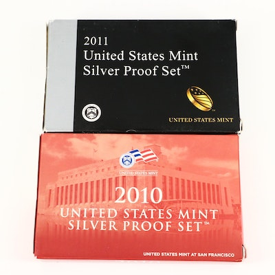 2010 and 2011 U.S. Mint Silver Proof Sets