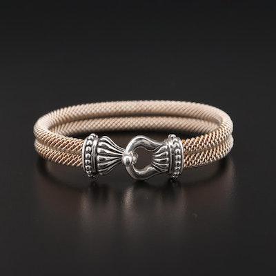 Joseph Esposito Sterling Silver Mesh Bangle Bracelet