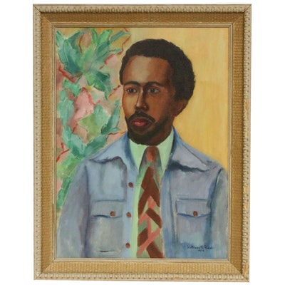 Kathleen F. Probst Oil Portrait of Male, 1974