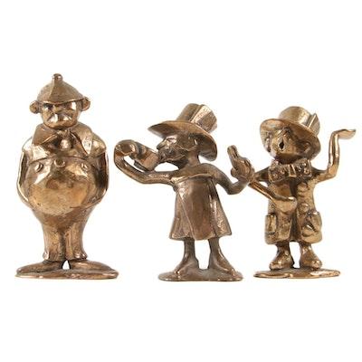 """Cast Metal """"Alice in Wonderland"""" Character Figurines"""