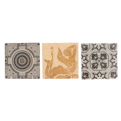 Mintons Transfer Printed Tile with Others, C. 1882