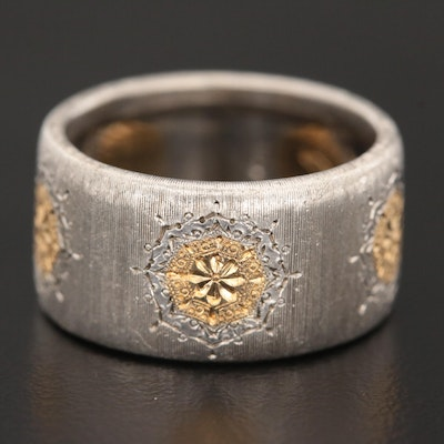 Gianmaria Buccallati Sterling Silver and 18K Gold Band