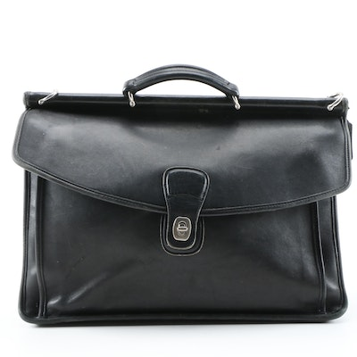 Coach Beekman Black Leather Briefcase