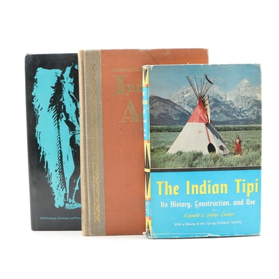 "Native American History and Reference Books Including Signed ""Indian Dances"""