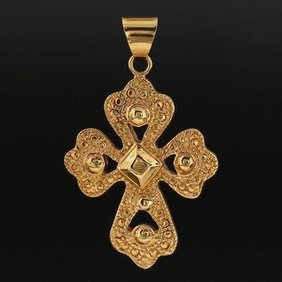 14K Yellow Gold Apostle's Cross Pendant