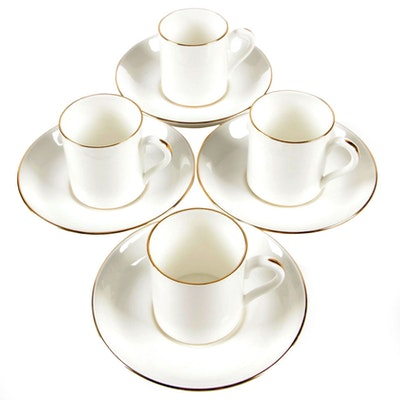 Crown Staffordshire for Tiffany & Co. Porcelain Demitasse Set