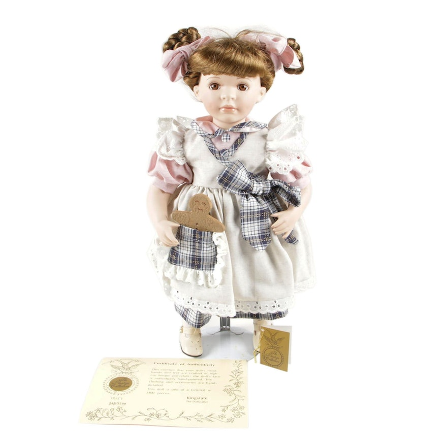 "Kingstate The Dollcrafter ""Tracy"" Prestige Collection Porcelain Doll"