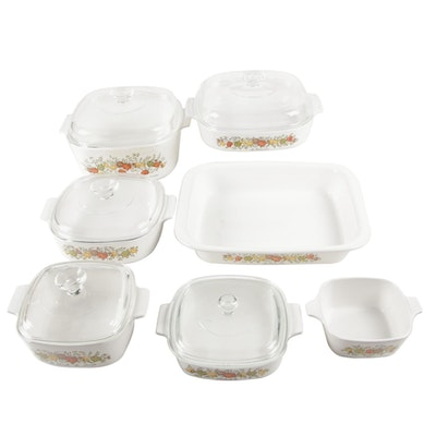 """Vintage Corning Ware """"Spice of Life"""" Baking Dishes"""