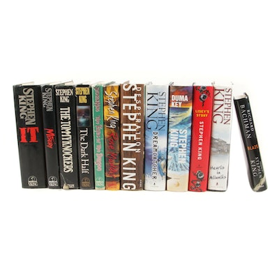 "First Edition, First Printings Stephen King Books including ""IT"""