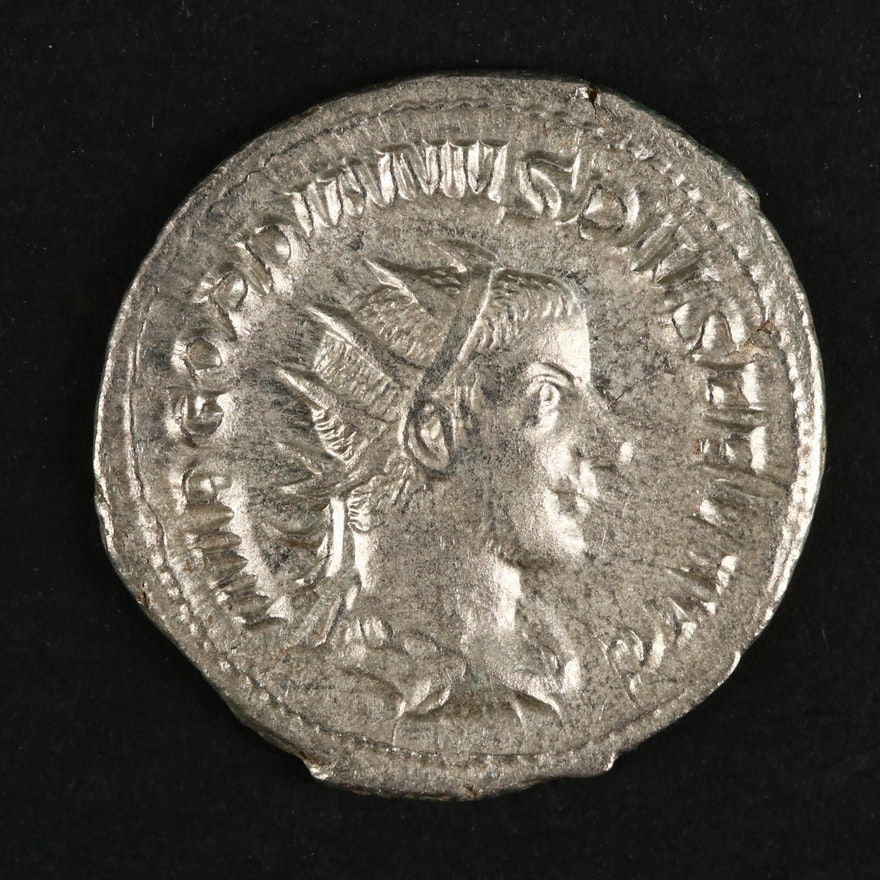 Ancient Roman Imperial AR Antoninianus of Gordian III, ca. 240 A.D.