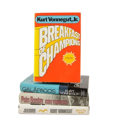 "Kurt Vonnegut Books featuring ""Breakfast of Champions"", ""Galápagos"" and Others"