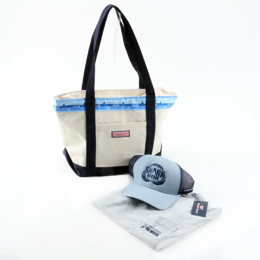 "Vineyard Vines x Discovery Channel ""Shark Week"" Collection Tote and More"