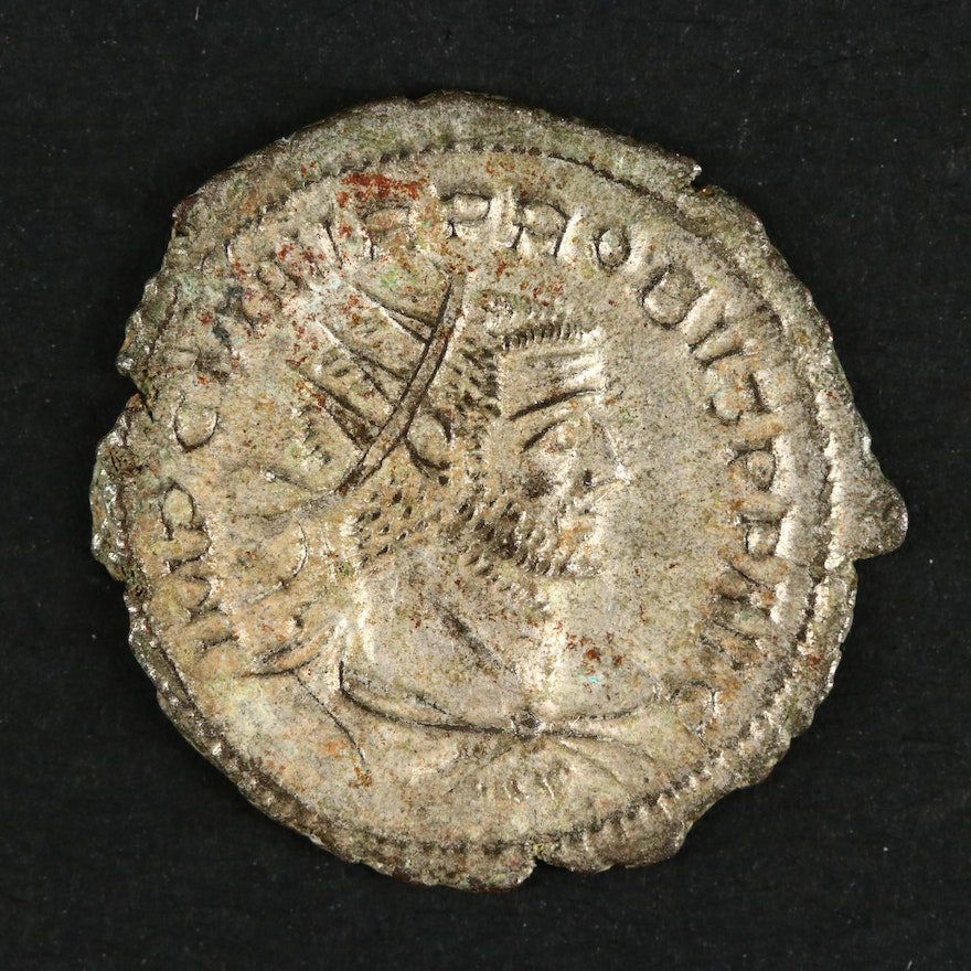 Ancient Roman Imperial Silvered Antoninianus of Probus, ca. 280 A.D.
