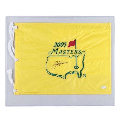 Jack Nicklaus Signed Souvenir 2005 Masters Pin Flag     JSA Full Letter COA