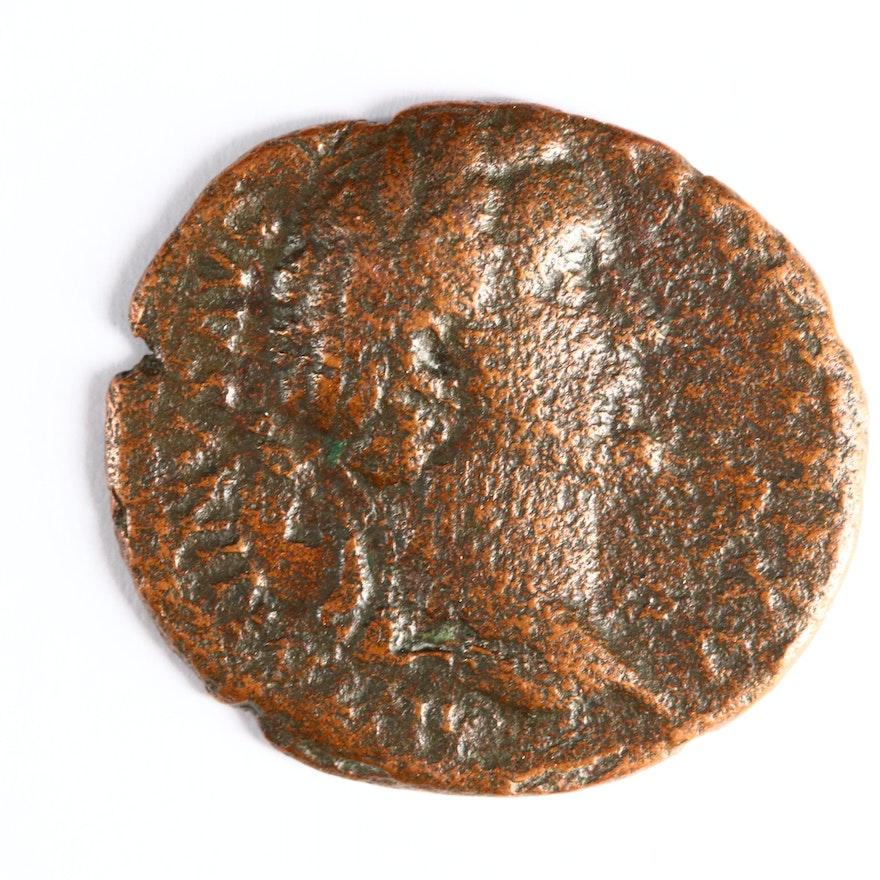 Ancient Roman Imperial AE As Coin of Antoninus Pius, ca. 152 A.D.