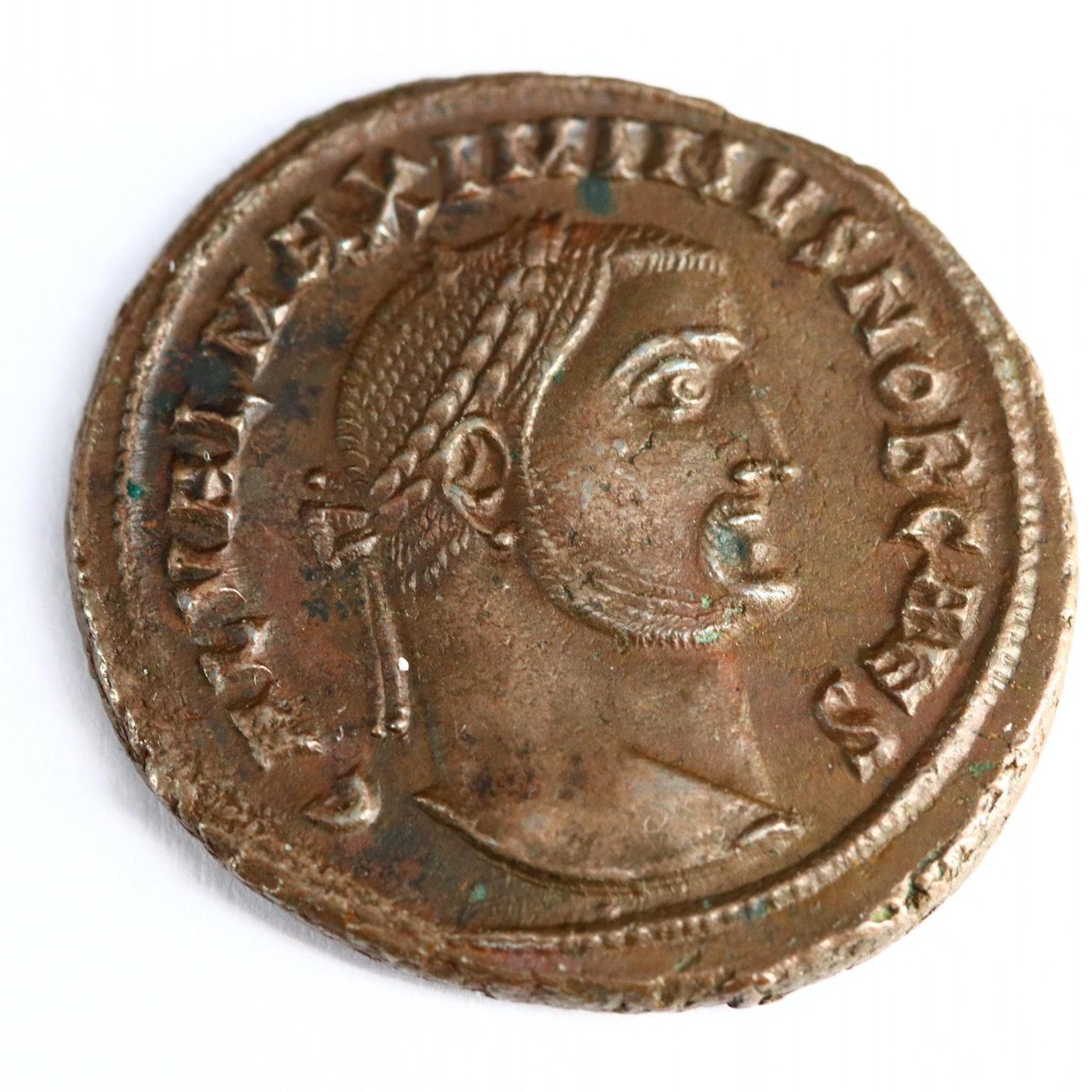 Ancient Roman Imperial AE Silvered Follis of Constantius I