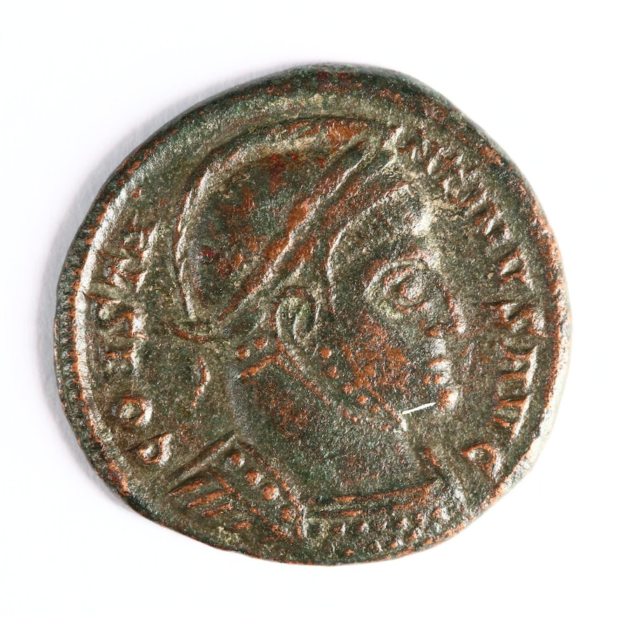 """Ancient Roman Imperial AE3 Coin of Constantine I, """"The Great"""", ca. 320 A.D."""