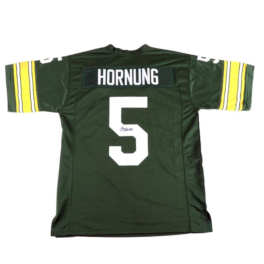 Paul Hornung Signed Green Bay Packers Replica Jersey  COA