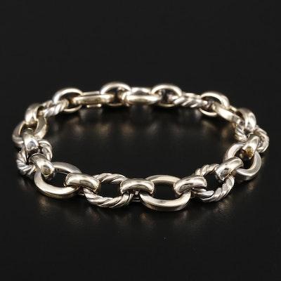 14K Gold Oval Fancy Link Bracelet