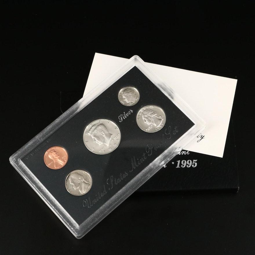 Better Date 1995 U.S. Mint Silver Proof Set