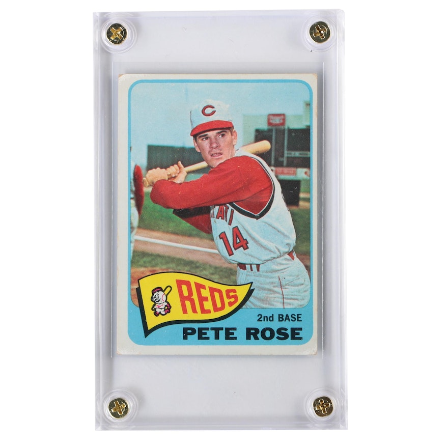 1965 Pete Rose Cincinnati Reds Topps Baseball Card