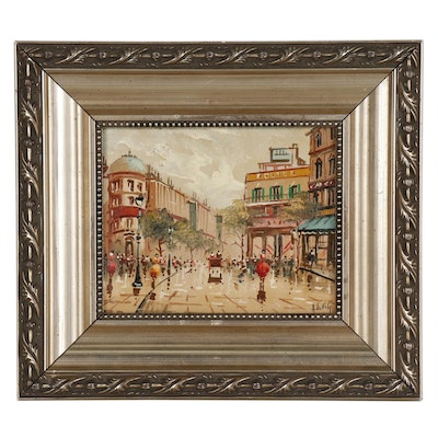 Antonio DeVity Cityscape Oil Painting