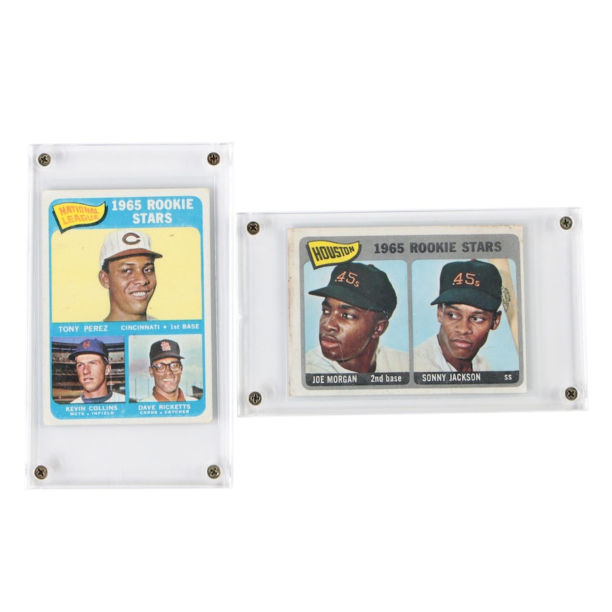 1965 Tony Perez and Joe Morgan Topps Rookie Baseball Cards
