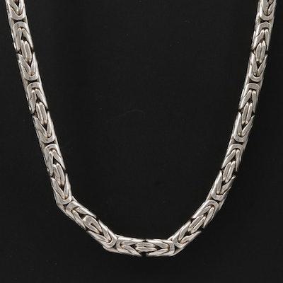 Sterling Silver Round Byzantine Chain