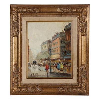 Antonio DeVity Cityscape Oil Painting