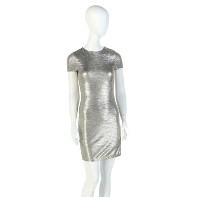 "Alice + Olivia Delora Metallic Sheath Worn on NBC's ""Today"", December, 2018"