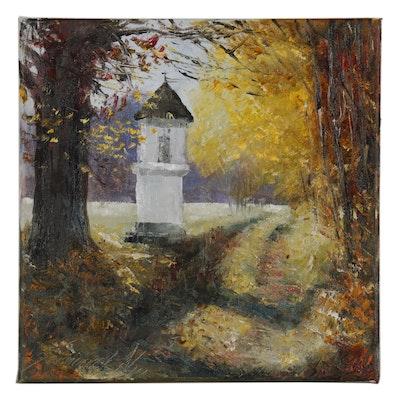 "Garncarek Aleksander Oil Painting ""Kapliczka"", 2019"