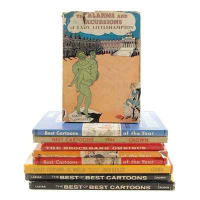 "1961 ""The Best of the Best Cartoons: 20th Anniversary Edition"" with Other Books"