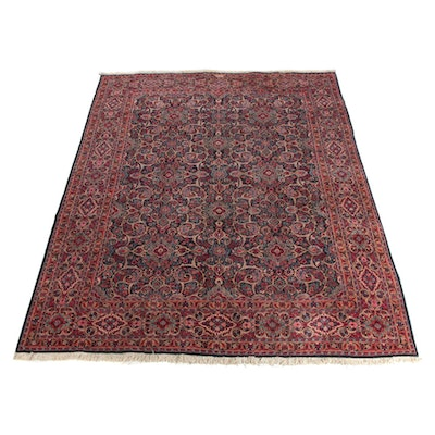 10'0 x 13'10 Hand-Knotted Signed Persian Sarouk Wool Room Sized Rug