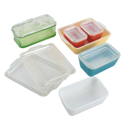 Pyrex Primary Color Refrigerator Dishes and Other Storage Dishes