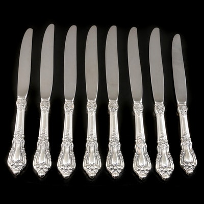 "Lunt ""Eloquence"" Sterling Silver Handled Dinner Knives"