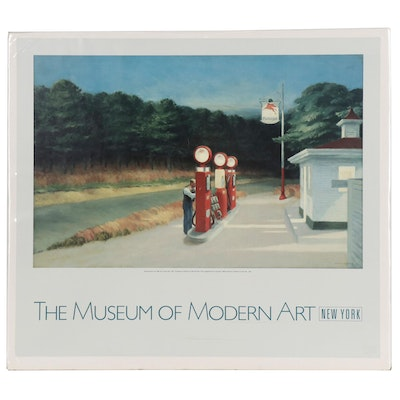 Offset Lithograph Poster after Edward Hopper for the Museum of Modern Art, 1988
