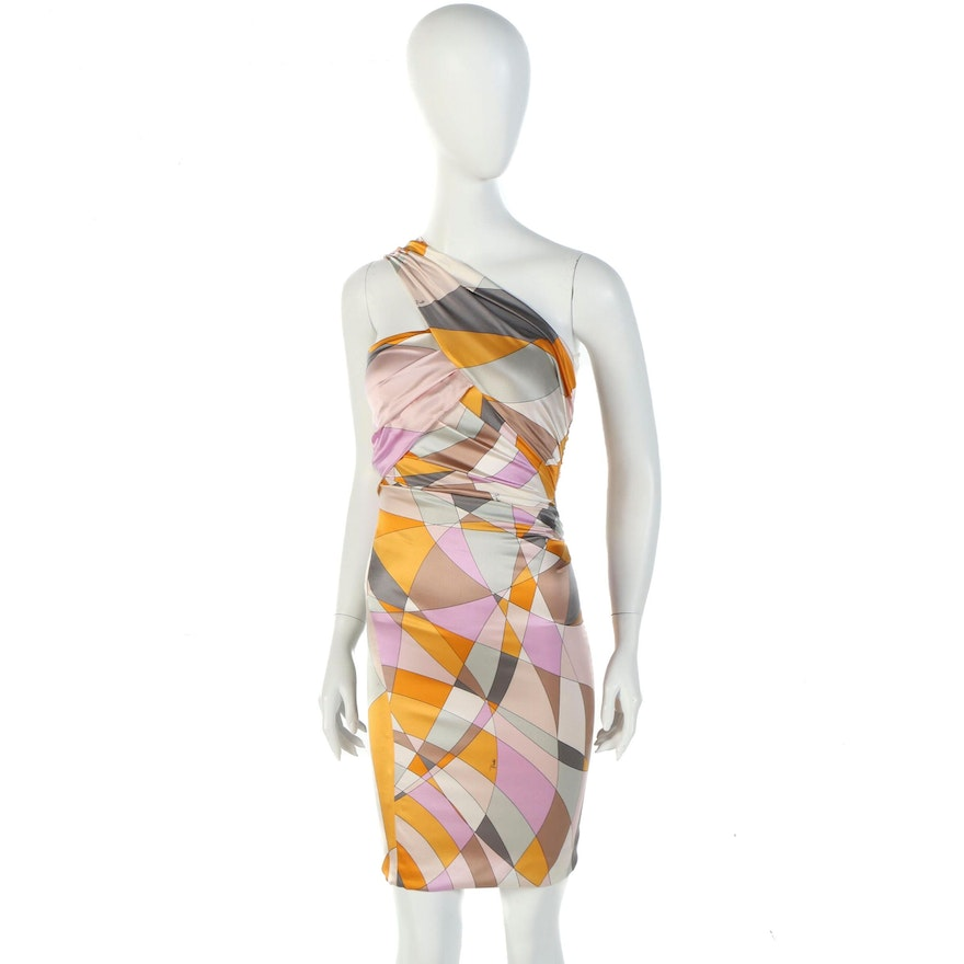"""Emilio Pucci Silk Print Dress Worn in """"Devious Maids"""" and Signed by Susan Lucci"""