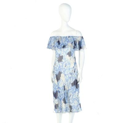 "Polo Ralph Lauren Silk Dress Worn by Susan Lucci for ""Harper's Bazaar"", 2018"