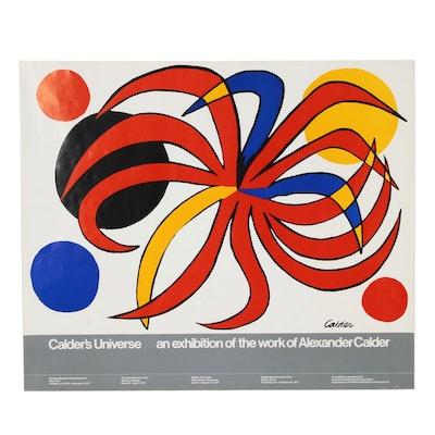 "Alexander Calder ""Calder's Universe"" Exhibition Poster, 1977"