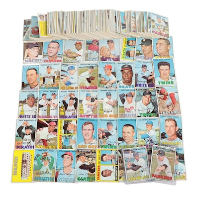 1967 Topps Baseball Cards With Stars and Hall of Fame Players