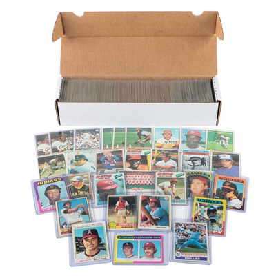 1970s Topps Baseball Cards with Hall of Fame Players and Stars