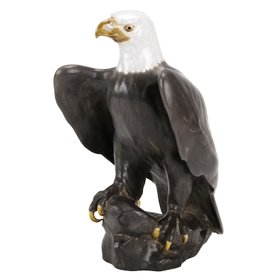 Signed Anthony Freeman-McFarlin Pottery Eagle