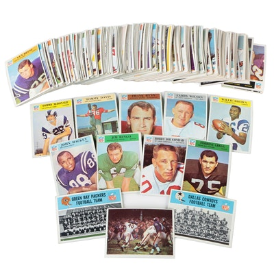 1965-1966 Topps Philadelphia NFL Football Cards with Stars