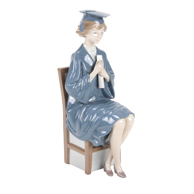 "Lladró ""Girl Graduate"" Porcelain Figurine by Francisco Catalá"